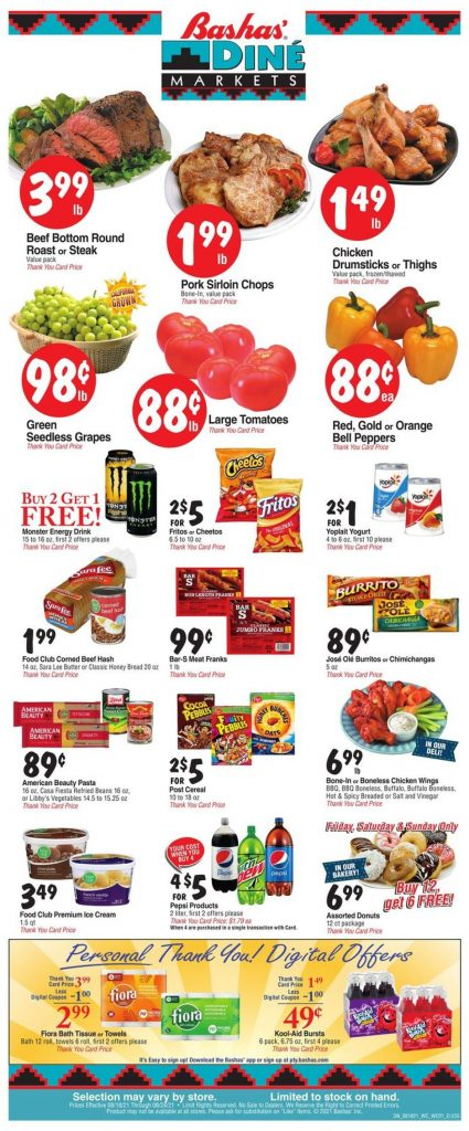 1. Bashas Weekly Ad August 18 - 24, 2021.