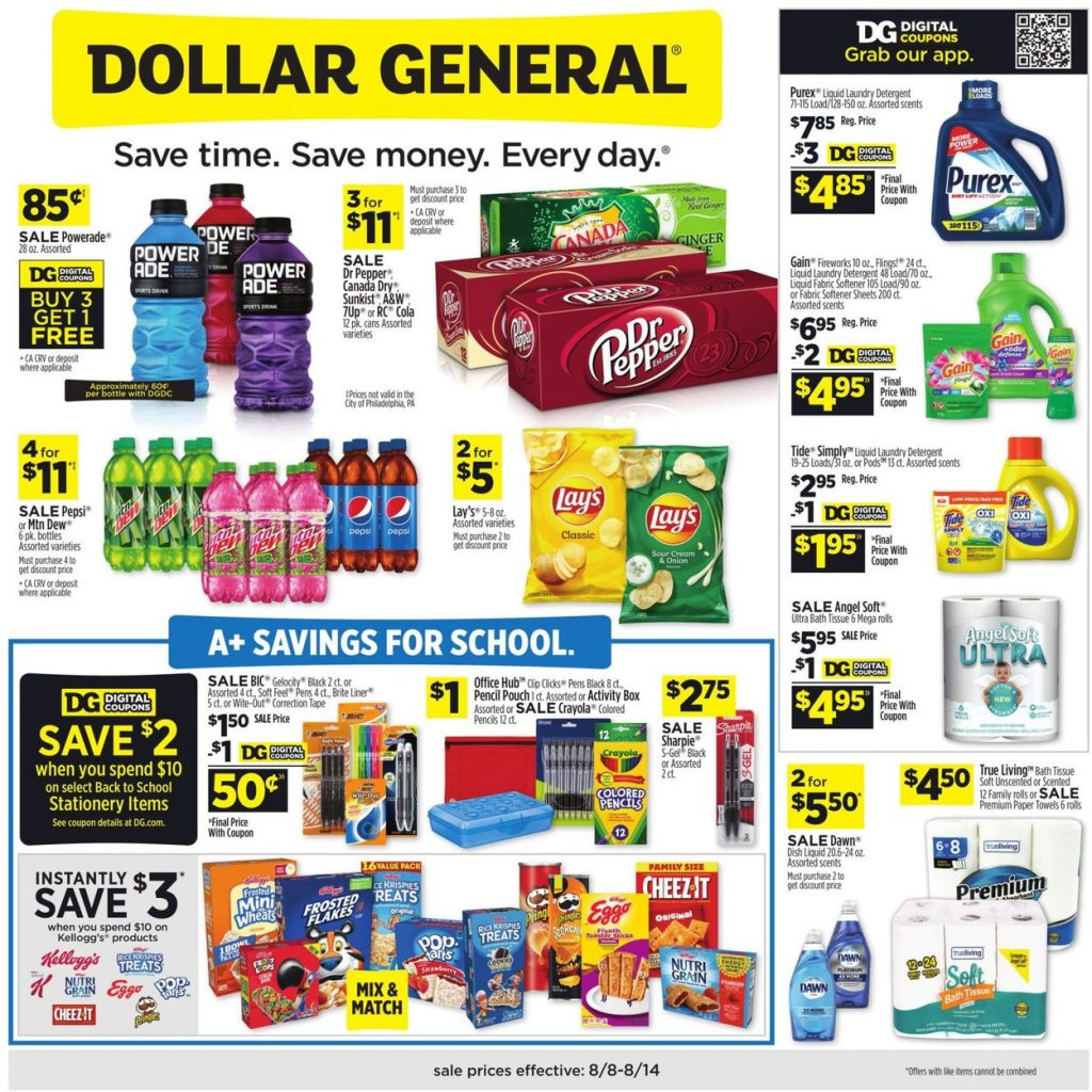 1. Dollar General Weekly Ad August 8 - 14, 2021
