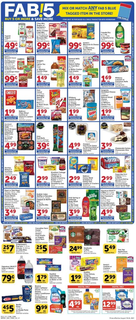 2, Vons Weekly Ad August 18 - 24, 2021