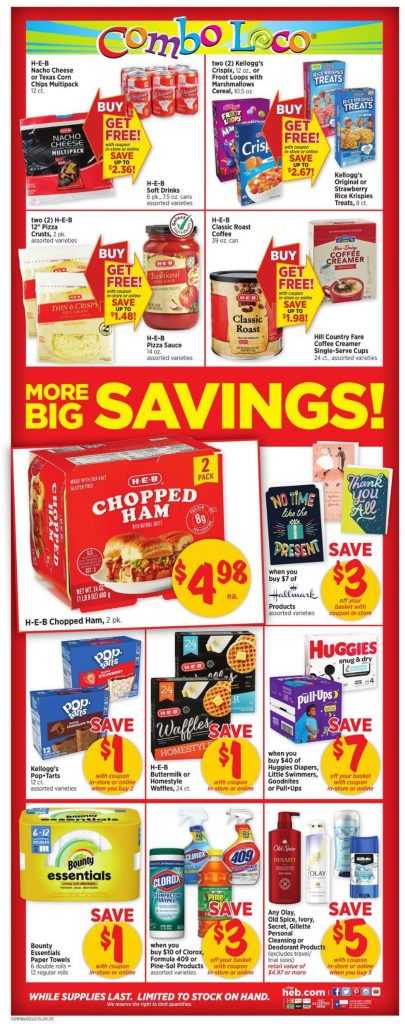 2. H-E-B Weekly Ad August 18 - 24, 2021.