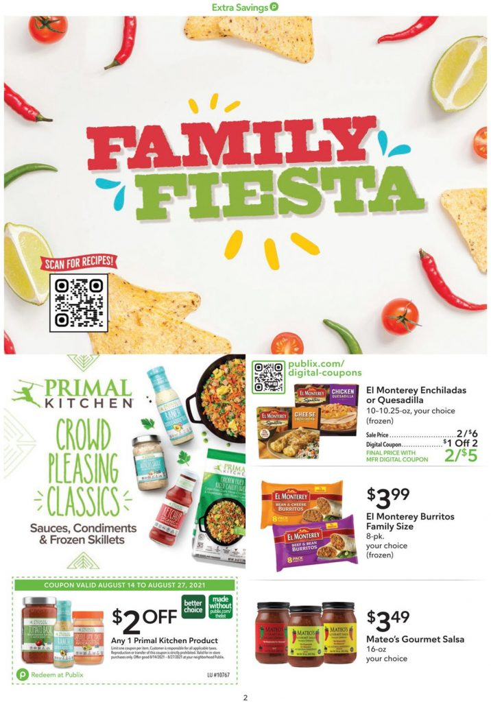 2. Publix Weekly Ad August 14 - 27, 2021.