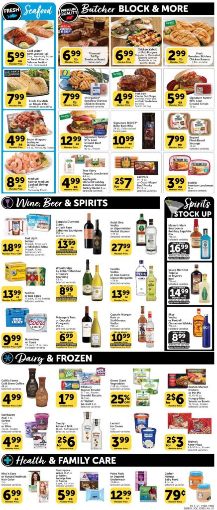 3, Vons Weekly Ad August 18 - 24, 2021