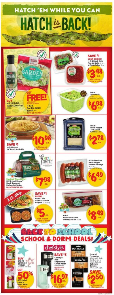 3. H-E-B Weekly Ad August 18 - 24, 2021.