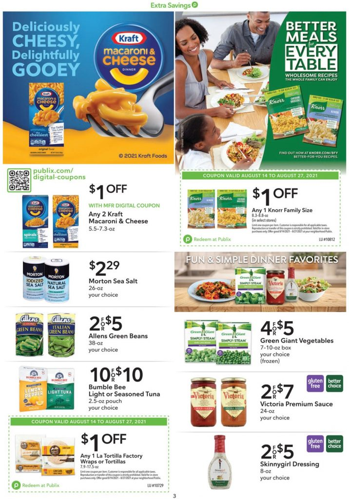 3. Publix Weekly Ad August 14 - 27, 2021.