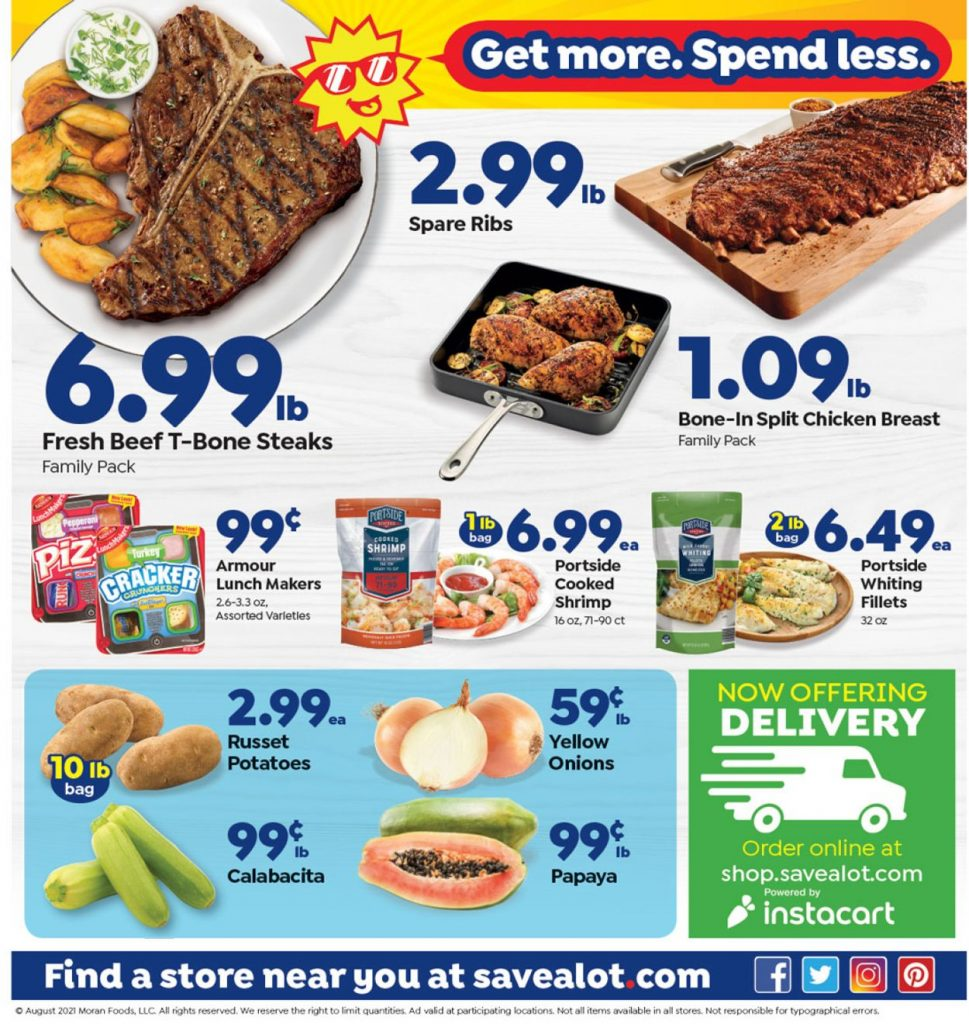 3. Save a Lot Weekly Ad August 18 - 24, 2021