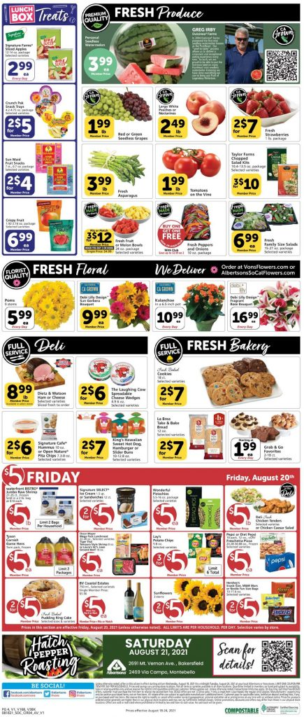 4, Vons Weekly Ad August 18 - 24, 2021
