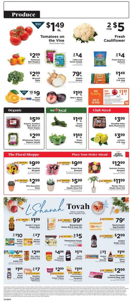 7. ShopRite Weekly Ad August 15 - 21, 2021