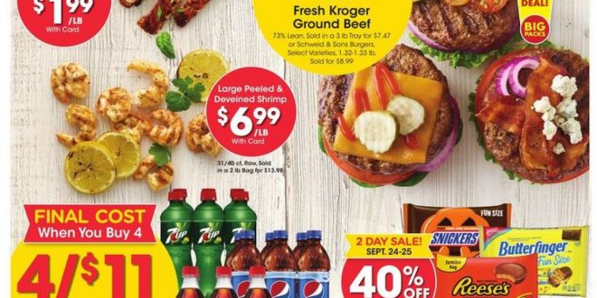 1. Kroger Weekly Ad Preview September 22 - 28, 2021