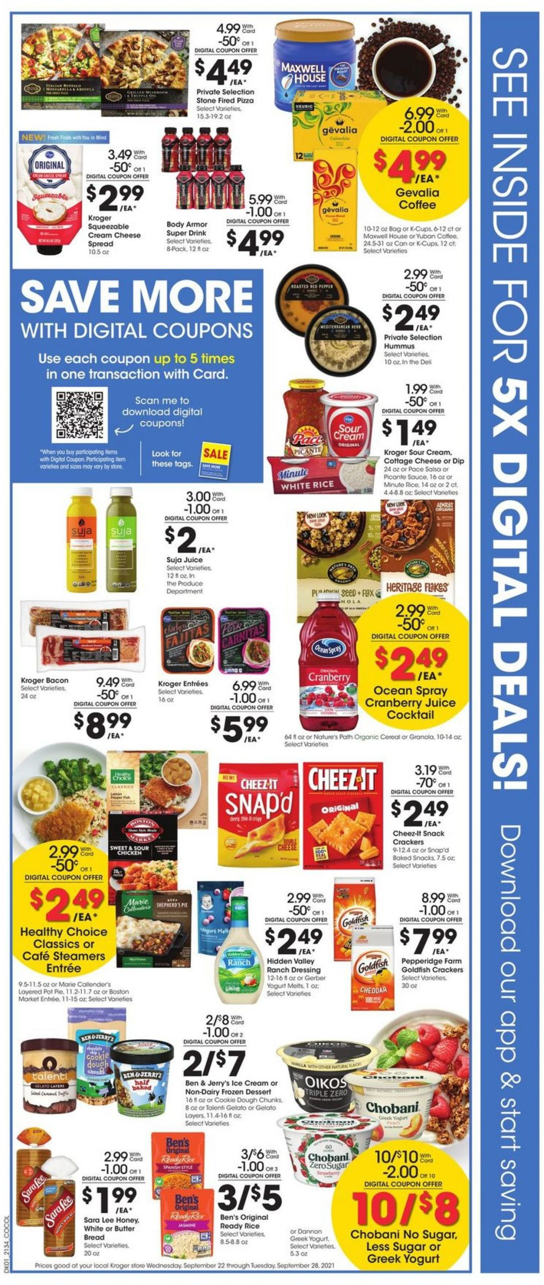 2. Kroger Weekly Ad Preview September 22 - 28, 2021