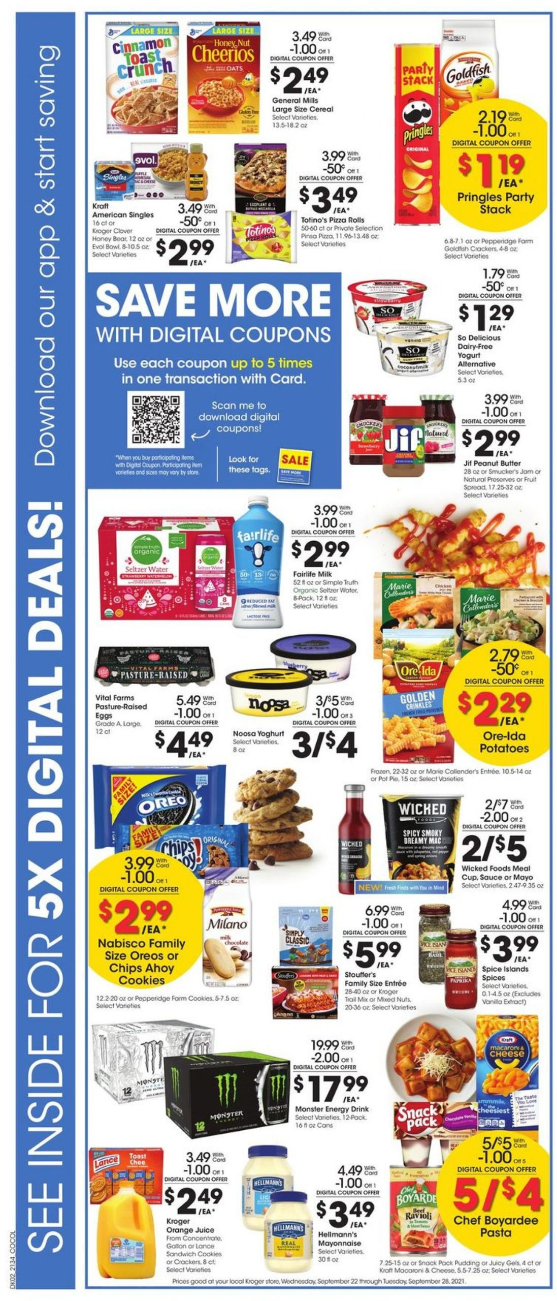 3. Kroger Weekly Ad Preview September 22 - 28, 2021