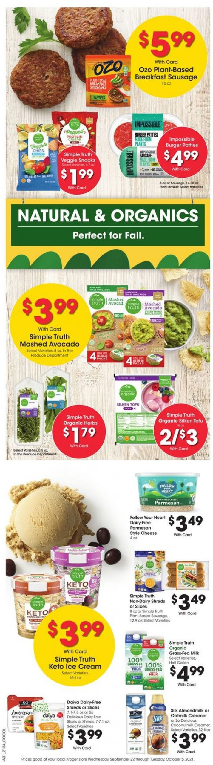 4. Kroger Weekly Ad Preview September 22 - 28, 2021